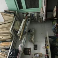 printing screens in Mariela's studio